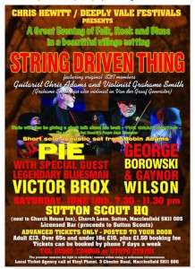 Sutton rearranged gig poster